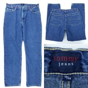 Vtg Tommy Girl Embroidered Straight Jeans 32x30